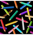 Colored pencils seamless pattern vector image