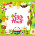 egg hunt paper concept vector image
