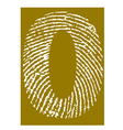 Fingerprint Alphabet No 0 vector image