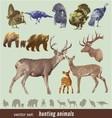 Hunting animals vector image