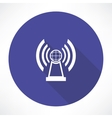 radio station icon vector image