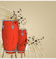 Red drums vector image