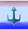 Sea Metal Anchor Silhouette vector image