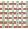 Vintage seamless pattern with stripes and stars vector image