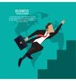 Businessman suitcase suit business icon vector image