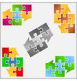 Puzzle Speech Bubbles vector image