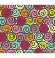 Seamless pattern with swirls vector image