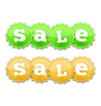 Yellow and Green Sale Tags Vector Image