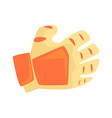 orange sport glove handball sport equipment vector image