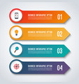 arrow infographic options banner template vector image vector image