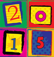 Pop art styled card for new years vector image