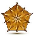 Sophisticated golden star emblem 3d decorative vector image