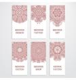 Set of flyer templates mehndi design vector image