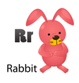 Alphabet R with rabbit vector image vector image