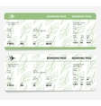 ticket boarding pass vector image