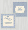 rustic wedding invitation 0502 vector image