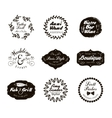 Retro Vintage Logotypes and insignias set vector image