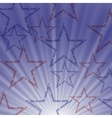 Starry Wave Blue Background vector image
