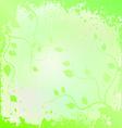 Leaf - spring - background vector image