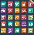 auto service icon set - flat design vector image
