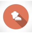Chef hat and saucepan icon vector image