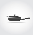 Coocking pan with steam vector image