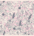 floral seamless pattern with flowers vintage vector image