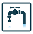Icon of pipe with valve vector image