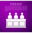 Jurors flat icon on purple background vector image