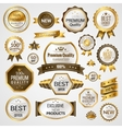 Luxury labels set vector image