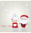 Santa and Misses Claus Merry Christmas background vector image