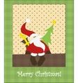 Sitting Santa vector image