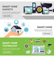 smart home horizontal banner set vector image