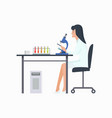 woman working in laboratory vector image