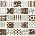 Graphic ornamental tiles collection set of vector image vector image