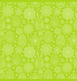 seamless pattern with easter eggs and flowers vector image