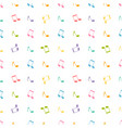 pattern with colorful music notes vector image vector image