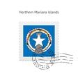 Northern Mariana Islands Flag Postage Stamp vector image