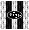 black and white vintage pattern for menu uno vector image