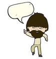 cartoon bearded man pointing and laughing with vector image