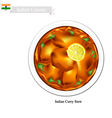 Indian Curry A Famous Dish in India vector image vector image