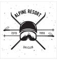 Emblem of Ski Club Vintage Mountain winter badge vector image