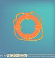 lifebuoy icon vector image