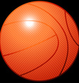 Orange 3D basketball sports equipment on black vector image