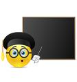 Student around blackboard vector image