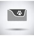 Dogs sleep basket icon vector image