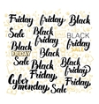 Black Friday Lettering Design Set vector image