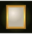 Gold Picture Frame with Light Canvas vector image vector image
