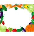 vegetable frame vector image vector image