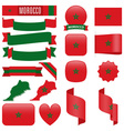 Morocco flags vector image